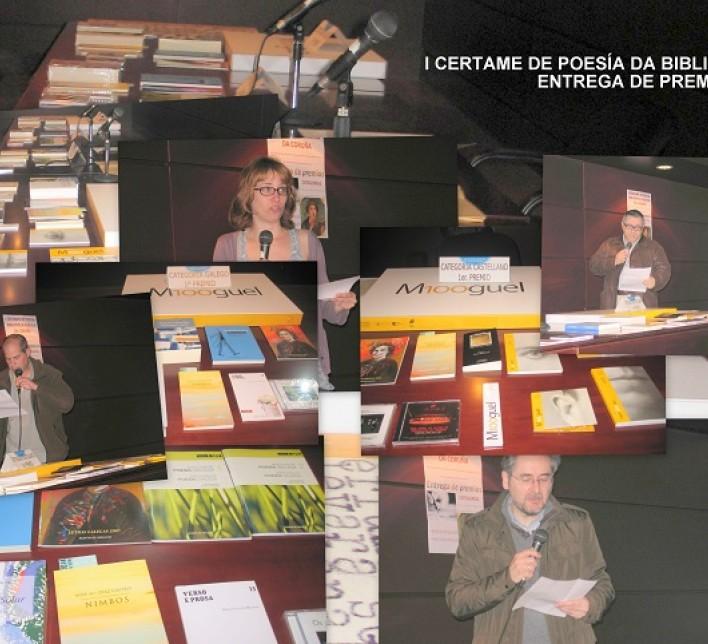 Entrega de premios do I Certame de Poesía da Biblioteca