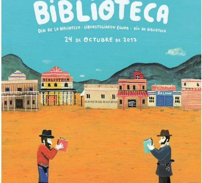 Cartel Día da Biblioteca 2017