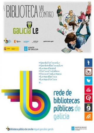 #QuedaNaCasaeLe_Biblioteca Publica da Coruña MG Garcés
