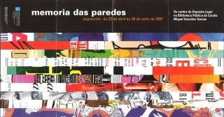 """Cartel da exposición """"Memoria das paredes"""". Grupo Re-visión Deseño"""