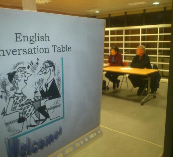 Mesas de conversación en inglés